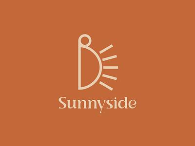 Sunnyside cafe logo design brown simple vintage graphic design logo design logo cafe coffee retro modern brand design branding design
