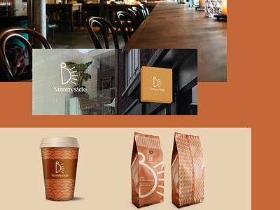 Sunnyside cafe logo design mockup mockup vintage retro cafe logo design ux vector ui graphic design modern logo design branding brand design