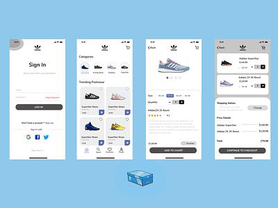 Adidas Store App ui design uxui ux app figma