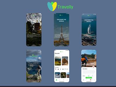 Travelly App ux ui app figma design