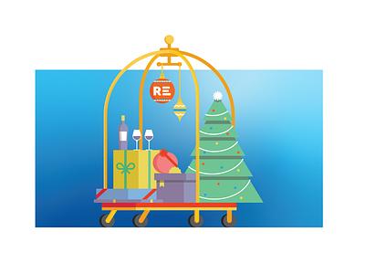 Hotel Holiday vector illustration