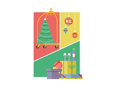 Hotel Holiday branding vector illustration