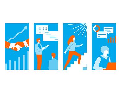 Training Program Illustration branding vector illustration