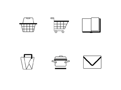 Cooking website icon set icon