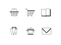Cooking website icon set