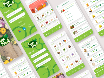 Grocery store UI typography vector design web product illustration icon branding app ui ux