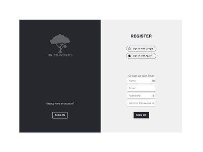 login register page ui design branding typography graphic design interface visual design interface design ux ui vector design
