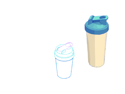 3d protein shaker on a map / health wellness section wacom intuos wacom tablet hand drawn interaction design map interface 3d adobe illustrator interface graphic design visual design illustration interface design ui ux vector design