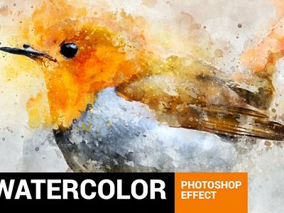 Perfectum 2 - Watercolor Artist Photoshop Action effect tutorial sketch photo manipulation pencil perfect modern art drawing painting brush digital art watercolor artist artwork