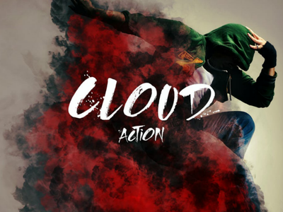 Cloud Photoshop Action realistic distortion dust sand decorative correction abstract photoshop addon image cloud fx effect action atn