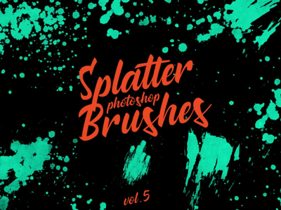 Splatter Stamp Photoshop Brushes Vol. 5 paint abr abstract photoshop brushes texture flow ombre leaks paper artistic ink watercolor stamp splatter