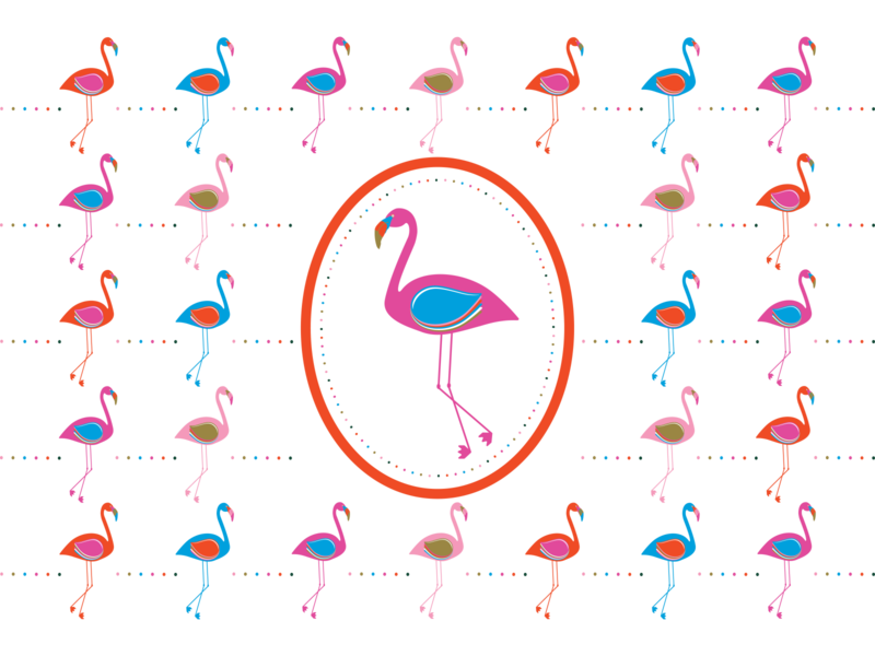 Conga Line of Flamingos