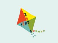 Jump Hop Bounce logo concept