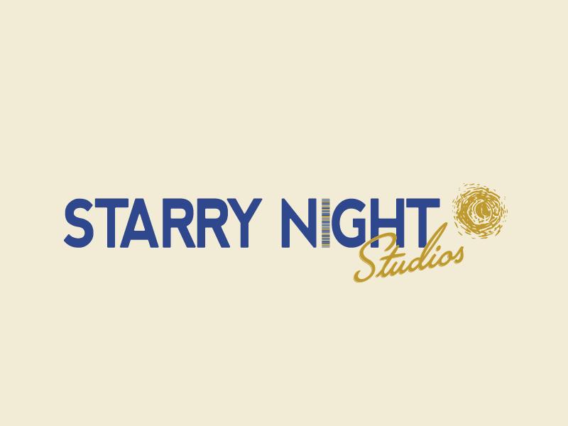 starry night studios logo by dana lynch on dribbble starry night studios logo by dana lynch