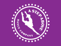 A Step Above Dance Company typography branding silhouette illustration ballet dance dancer logo