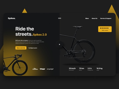 Bike Rental Service ux vector logo ui design illustration graphic design app branding animation 3d bicycle racing workout cycling exercise sports rental bike