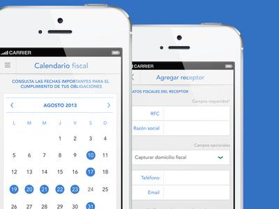 Calendar and form