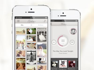 Photo Gallery / Playlist / Wedding App