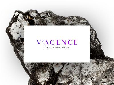Vagence Logo agency brand identity branding agency typoraphy lettering logotype logo design brading logo