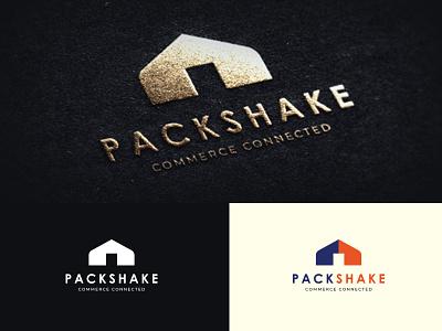 Packshake Logo corporate standard cool colors percel logistic modern cool awesome lettering minimal design agency branding brand identity logotype logo design logo