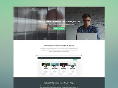 Userforge Landing Page web website app application product landing home ui clean simple