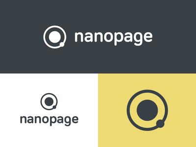 Nanopage Brand Concept round space identity branding brand logo