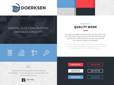 Doerksen Style Tile testimonial icons buttons branding style tile