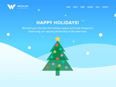 Happy Holidays from Wedler Engineering tree snow holidays christmas