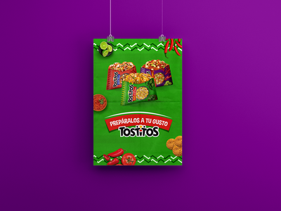 Tostitos Banner inspiration digital design flavor packaging information social brand banner social media concept advertising pepsico design tostitos ads 2d artist 2d
