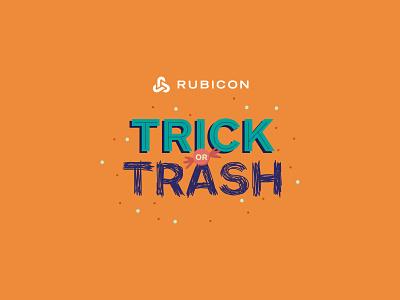 Trick or Trash | logo inspiration logo design world planet rubicon digital schoolar colours brand mission campaign waste experience recycle digital design graphic design design childrens assets logo