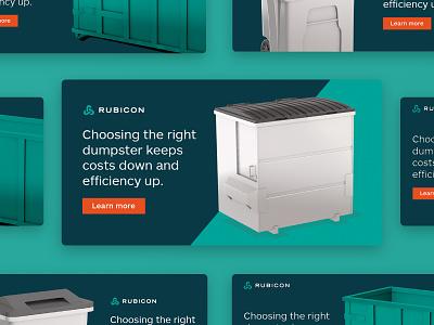 Dumpster Ads ads design ads duster recycling recycle waste asset concept 2d banner design banner graphic design illustration branding inspiration digital design design