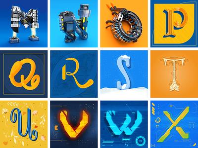36 days of type 2021 lettering 3d ui branding illustration 2d inspiration graphic design digital design design