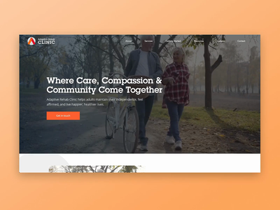 Adaptive Rehab interaction web design