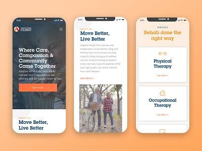 Adaptive Rehab Mobile ux ui website inspiration graphic design digital design design responsive