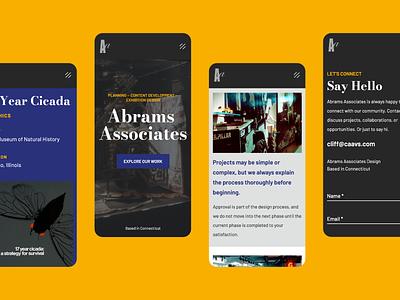 Abrams Associates Mobile graphic design digital design website inspiration design portfolio product design responsive