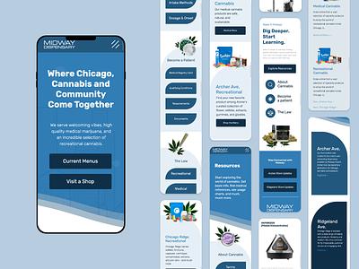 Midway Dispensary Mobile mobile design mobile ui ui website 2d inspiration digital design design responsive