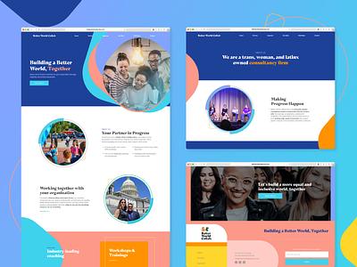 Web design | Better World General web experience ux branding ui logo website illustration inspiration graphic design digital design design