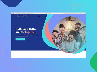 Web design | Better World Interaction interaction experience uidesign uxdesign ux branding ui logo website illustration inspiration graphic design digital design design