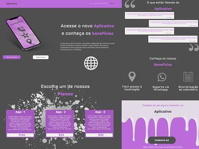 Home Page - App website model web ux branding ui design