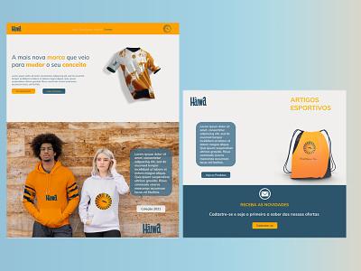 Website Model - Home Page branding web ux ui design