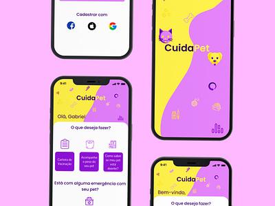 App Pet branding figma app ui design