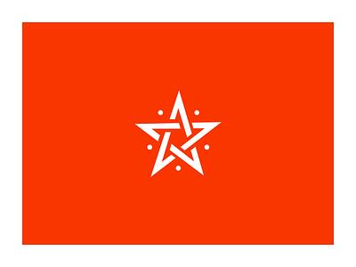 Pentagram symbol symbol ui logo white orange pentagram