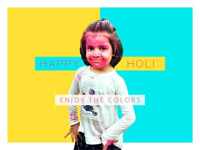 HAPPY HOLI !! model white pink yellow girl child smile joy colours holy holi happy