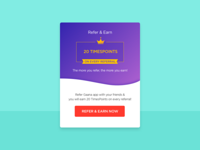 Refer and Earn illustration flat crown congratulations app points ui mobile earn refer