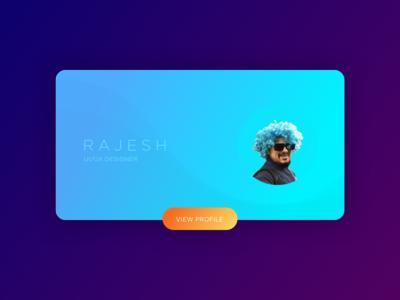 Designer Profile typography branding vector icon blue design profile card illustration ui ux profile