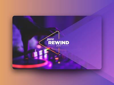 Gaana Rewind2017 rewind type app design ux ui illustration music logo