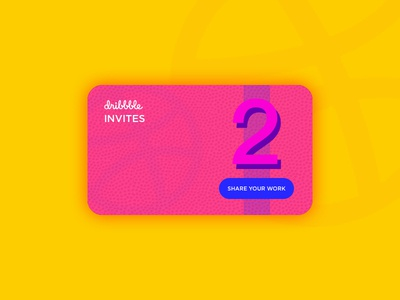 Two Dribbble Invites ios pink illustration get invited giveaway invites ui invite