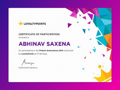 Crtificate Exploration typography loyalty flat gradient ux design creative ios illustration ui certificate