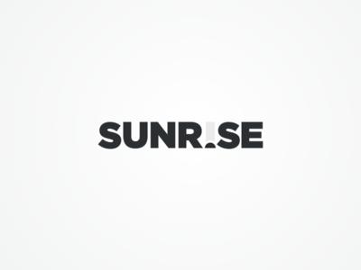 Sunrise grey type task sun productive morning mark logo identity good branding