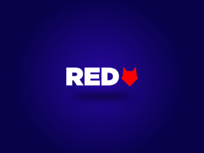 Redwolf wordmark icon typography ux type illustration identity branding logo